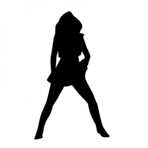 500x500 Woman Ing With Legs Open Silhouette