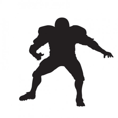 500x500 Football Player 1 Silhouette