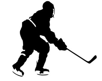340x270 Ice Hockey Silhouette Cupcake Toppers
