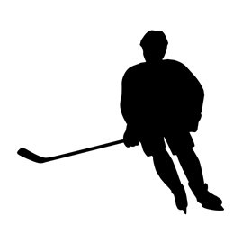 270x270 Hockey Player Silhouette 02 Stencil Free Stencil Gallery