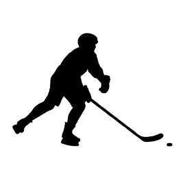270x270 Hockey Player Silhouette Stencil Free Stencil Gallery