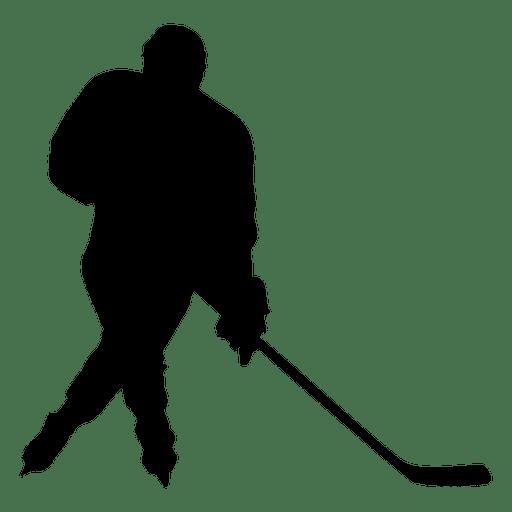 512x512 Hockey Player Breakaway Silhouette