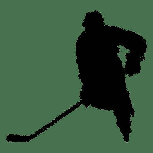 512x512 Hockey Player Stickhandling Silhouette