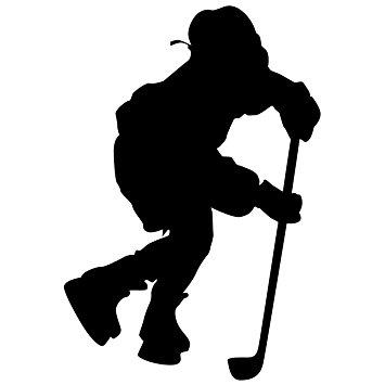 355x355 Hockey Wall Sticker Decal 4
