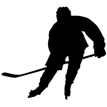 350x350 Hockey Player Silhouette Wname Custom Boys Vinyl