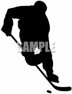 232x300 Art Image Silhouette Of A Hockey Player