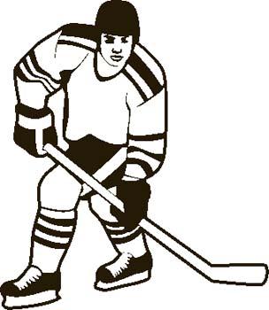 304x350 Hockey Clipart Free