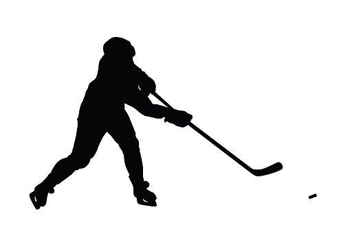 496x347 Ice Hockey Player Hockey Player Premium Clipart