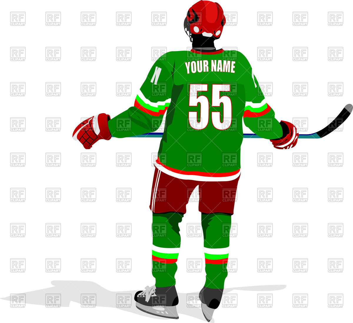 1200x1100 Ice Hockey Player
