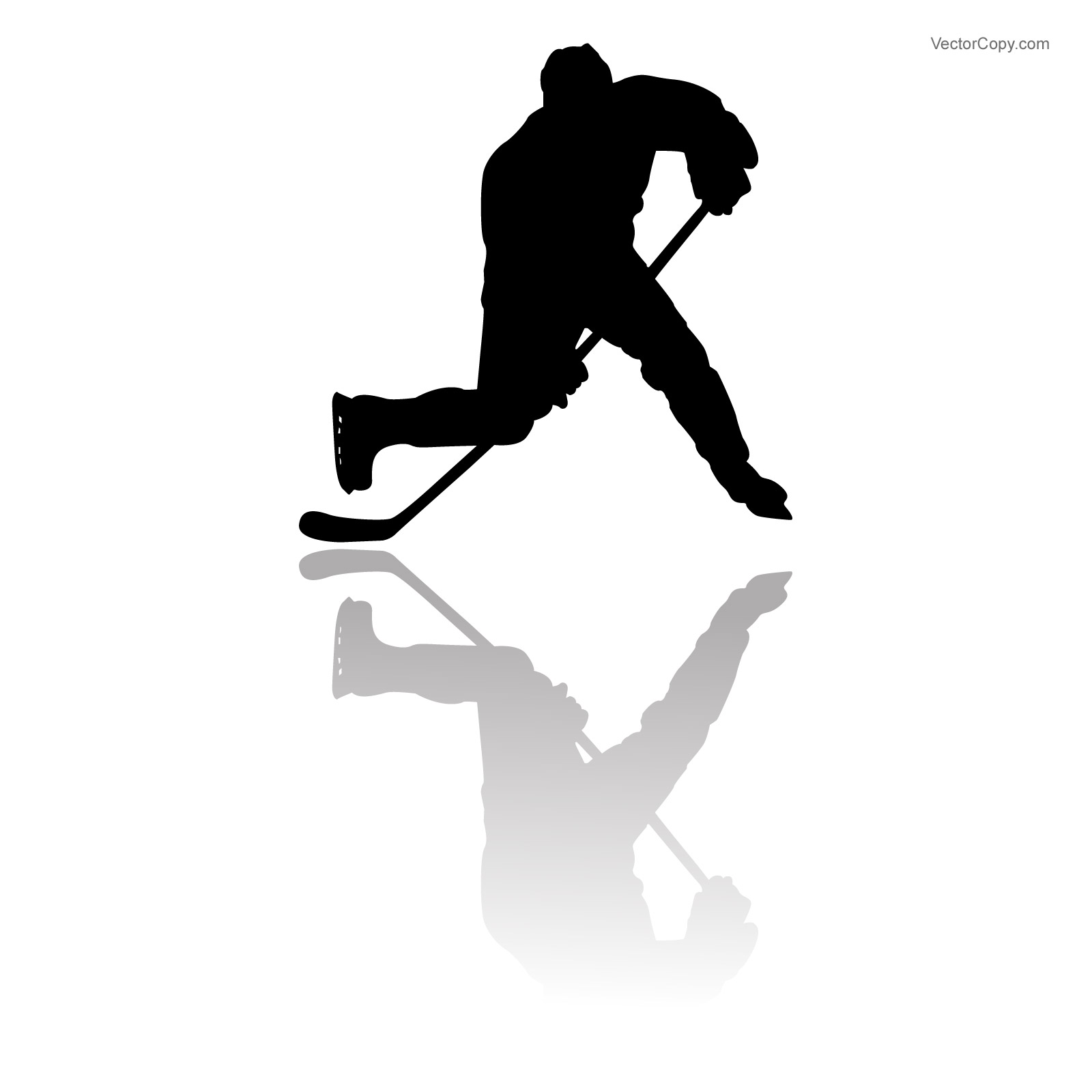1600x1600 Silhouette Of Hockey Player Free Vector Clipart Image