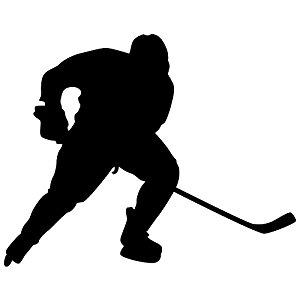 300x300 Hockey Wall Sticker Decal 24
