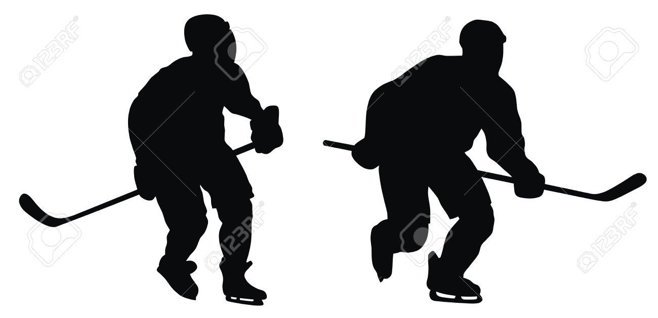 1300x629 Free Hockey Silhouette Clipart