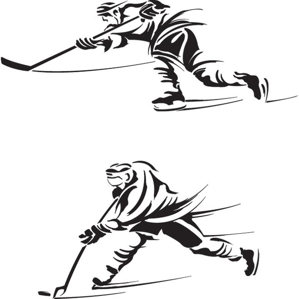 600x600 Free Hockey Player Silhouette Clipart Collection