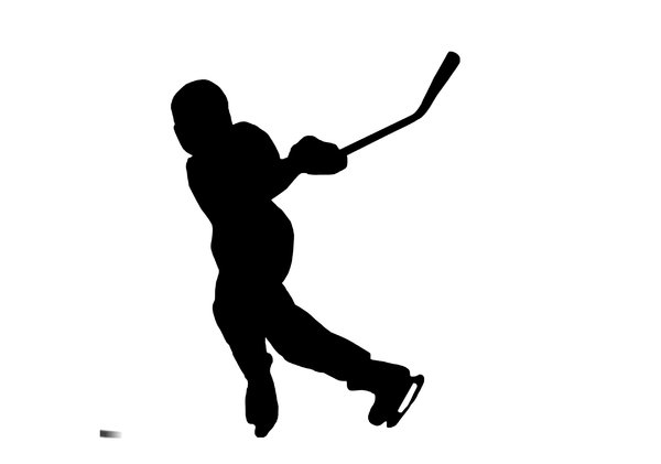 600x421 Hockey Silhouette Clipart
