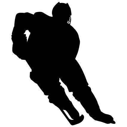 425x425 Hockey Wall Sticker Decal 1
