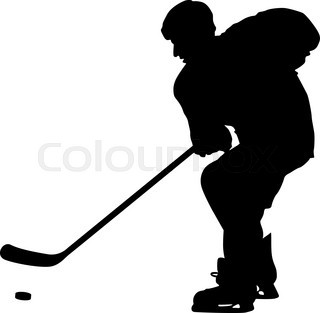 320x313 Hockey Player Silhouette Stock Vector Colourbox