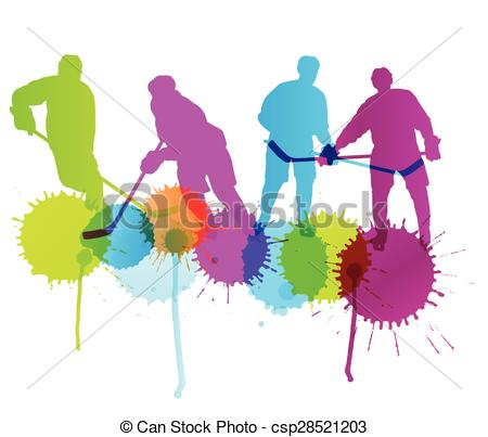 450x403 Ice Hockey Player Silhouette Sport Abstract Vector Vector