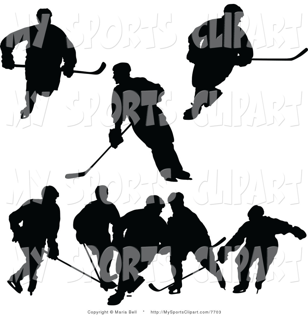 1024x1044 Sports Clip Art Of A Hockey Player Silhouettes By Maria Bell