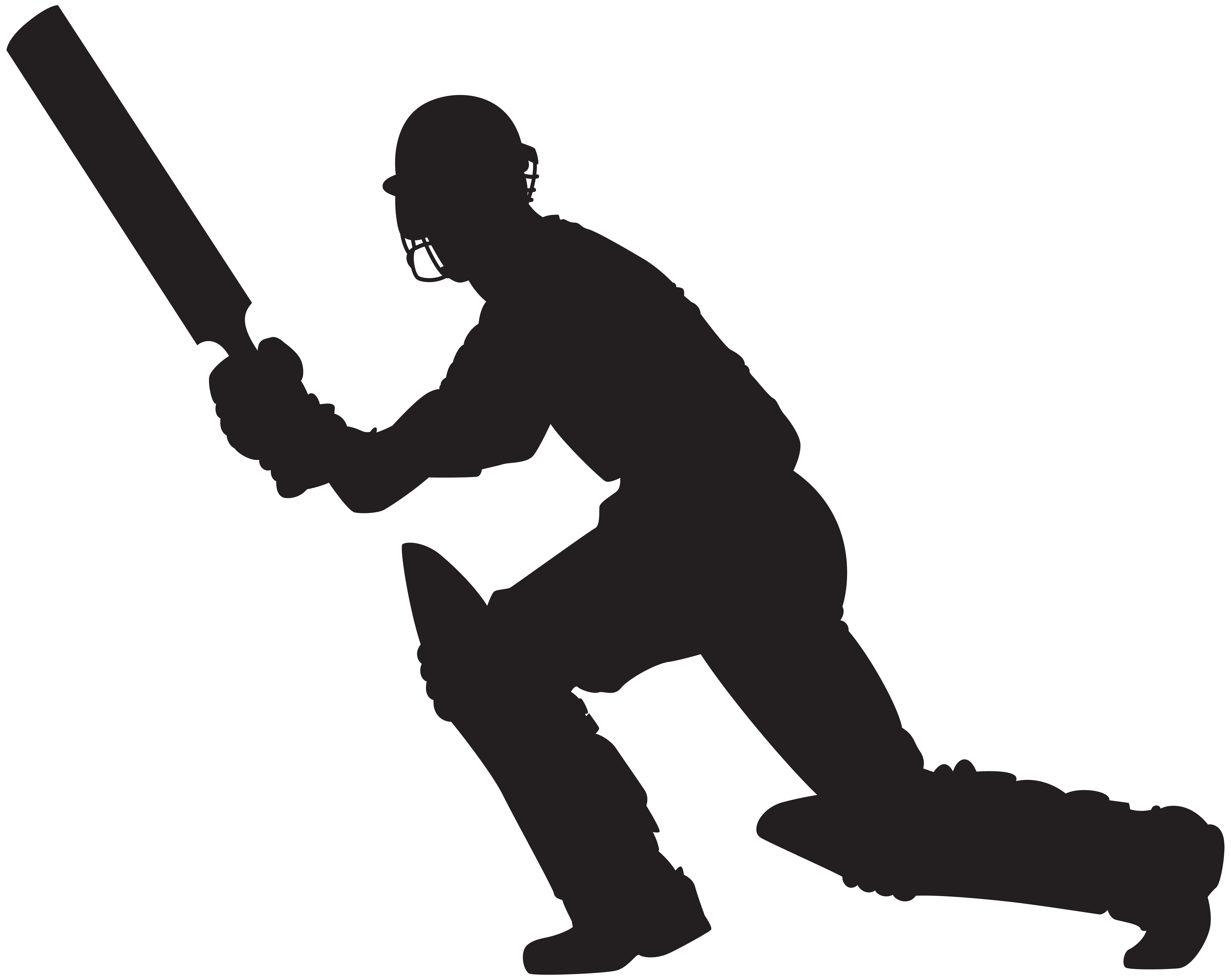 8000x6370 Cricket Player Clipart Png