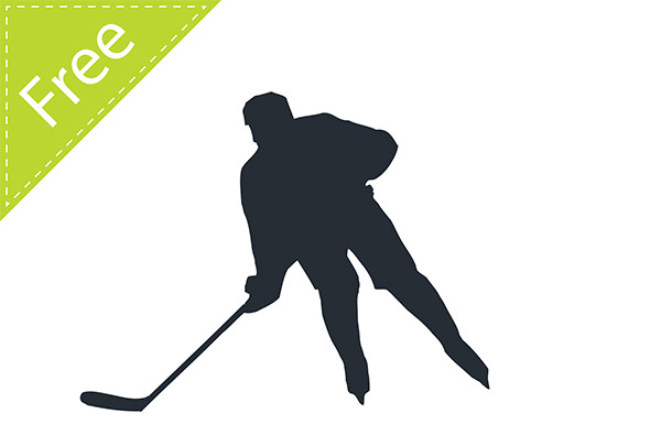 Hockey Player Silhouette Vector Free