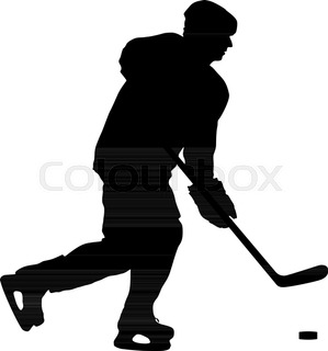 299x320 Two Hockey Sticks And Puck In The Vector Stock Vector Colourbox