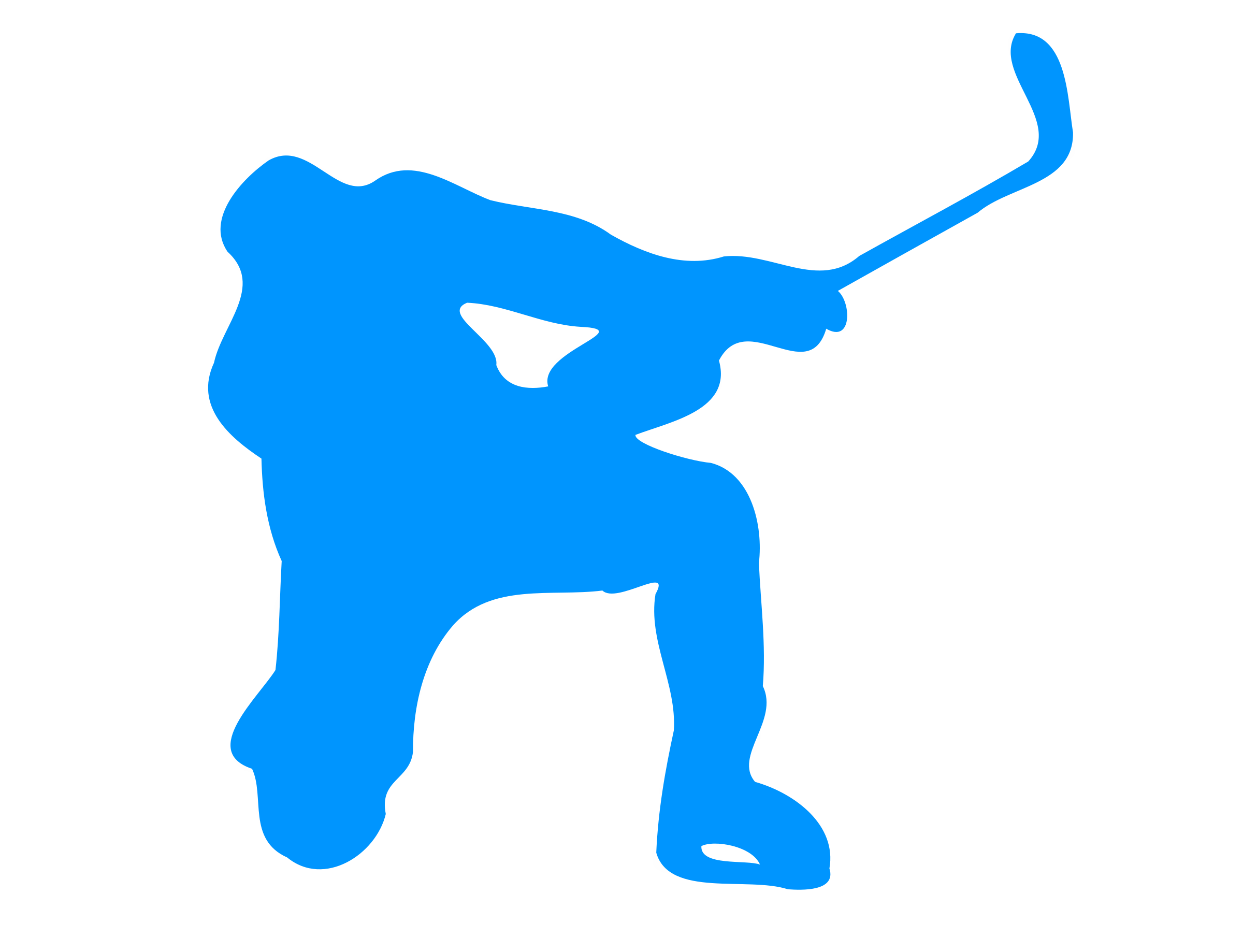 2400x1838 Silhouette Hockey 02 Icons Png