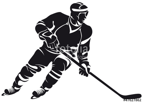 500x360 Hockey Player, Silhouette Stock Image And Royalty Free Vector