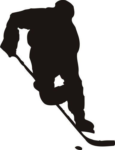 Hockey Silhouette Clip Art