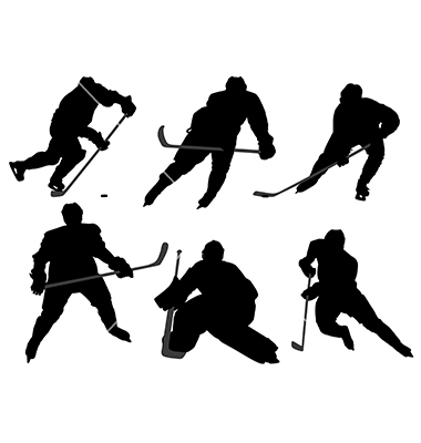 380x400 hockey player silhouette clipart