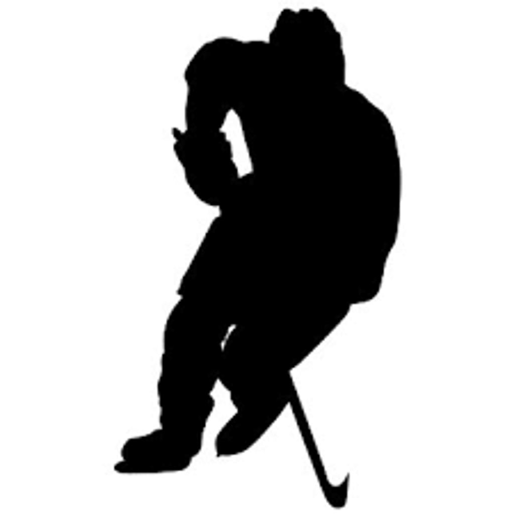 1024x1024 Girl Hockey Player Silhouette