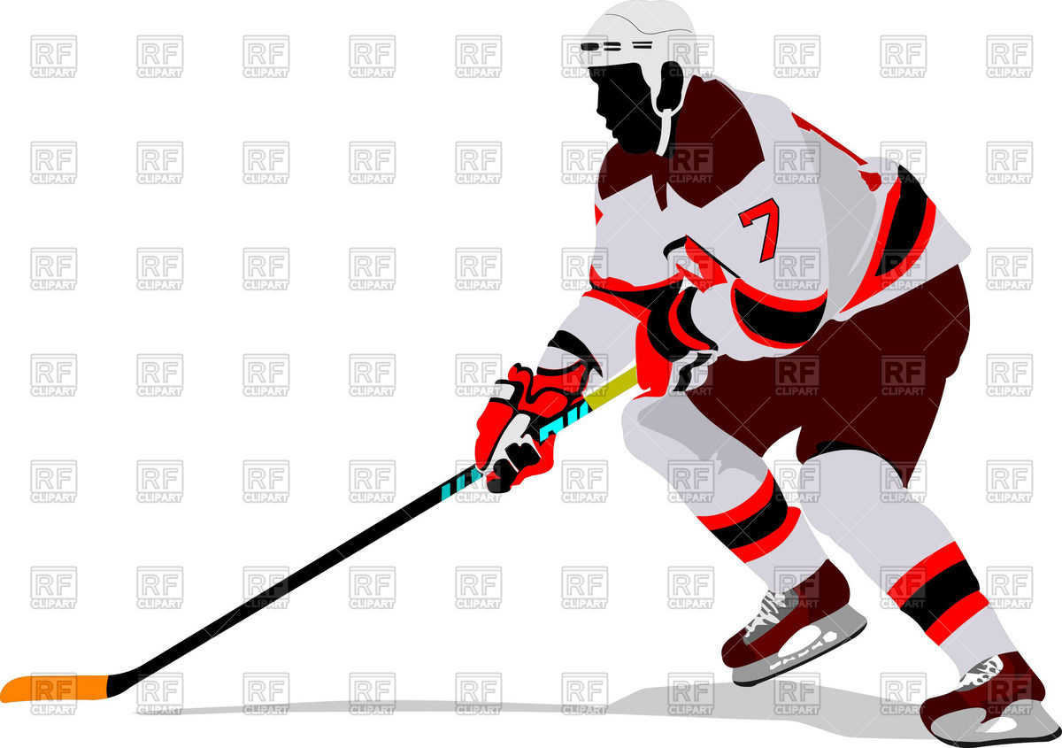 1200x845 Silhouette of ice hockey player on attack