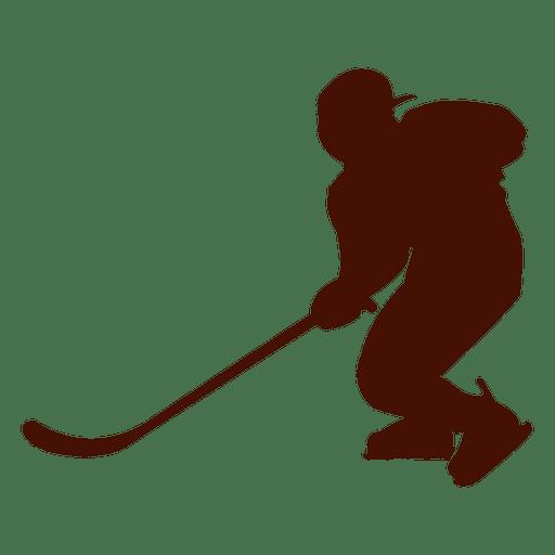 512x512 Hockey Ice Player Silhouette