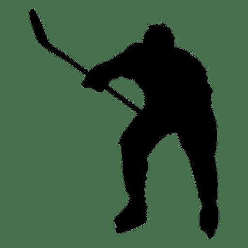 512x512 Hockey Player Shoot Silhouette