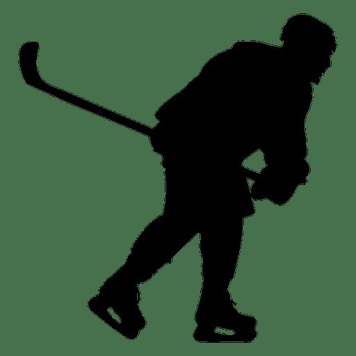 512x512 Hockey Player Skating Silhouette