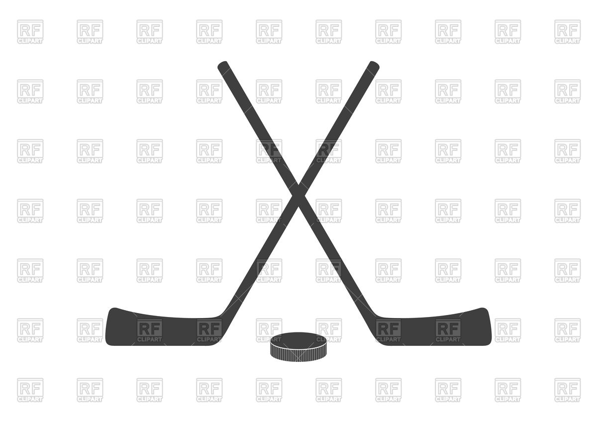 1200x848 Hockey Sticks And Puck Grey Minimal Logo Design Royalty Free