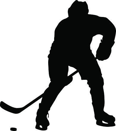 390x440 Silhouette Of Hockey Isolated On Vector Premium Clipart