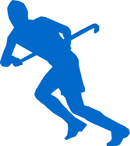 443x500 Silhouette Vector Image Of Grass Hockey Team Member Public