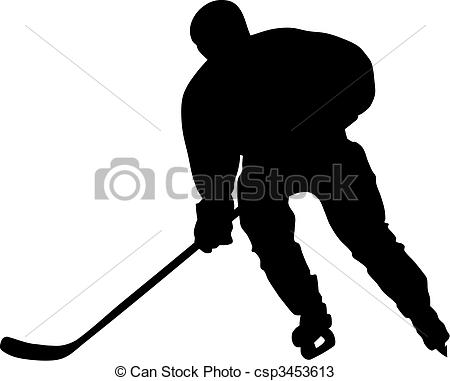 450x381 Abstract Vector Illustration Of Hockey Player Silhouette Vectors
