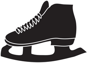 300x218 Ice Skates Clipart Image
