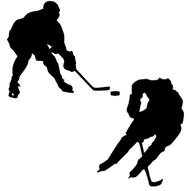 640x640 Sport Ice Hockey Skate Car Truck Auto Laptop Wall Home Vinyl Decal
