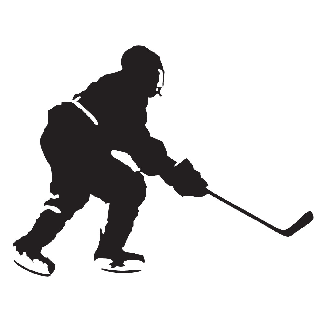 1050x1050 Hockey Silhouette Clipart
