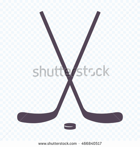 450x470 Hockey Stick Vector Beautiful Black Silhouette Ice Hockey Stick