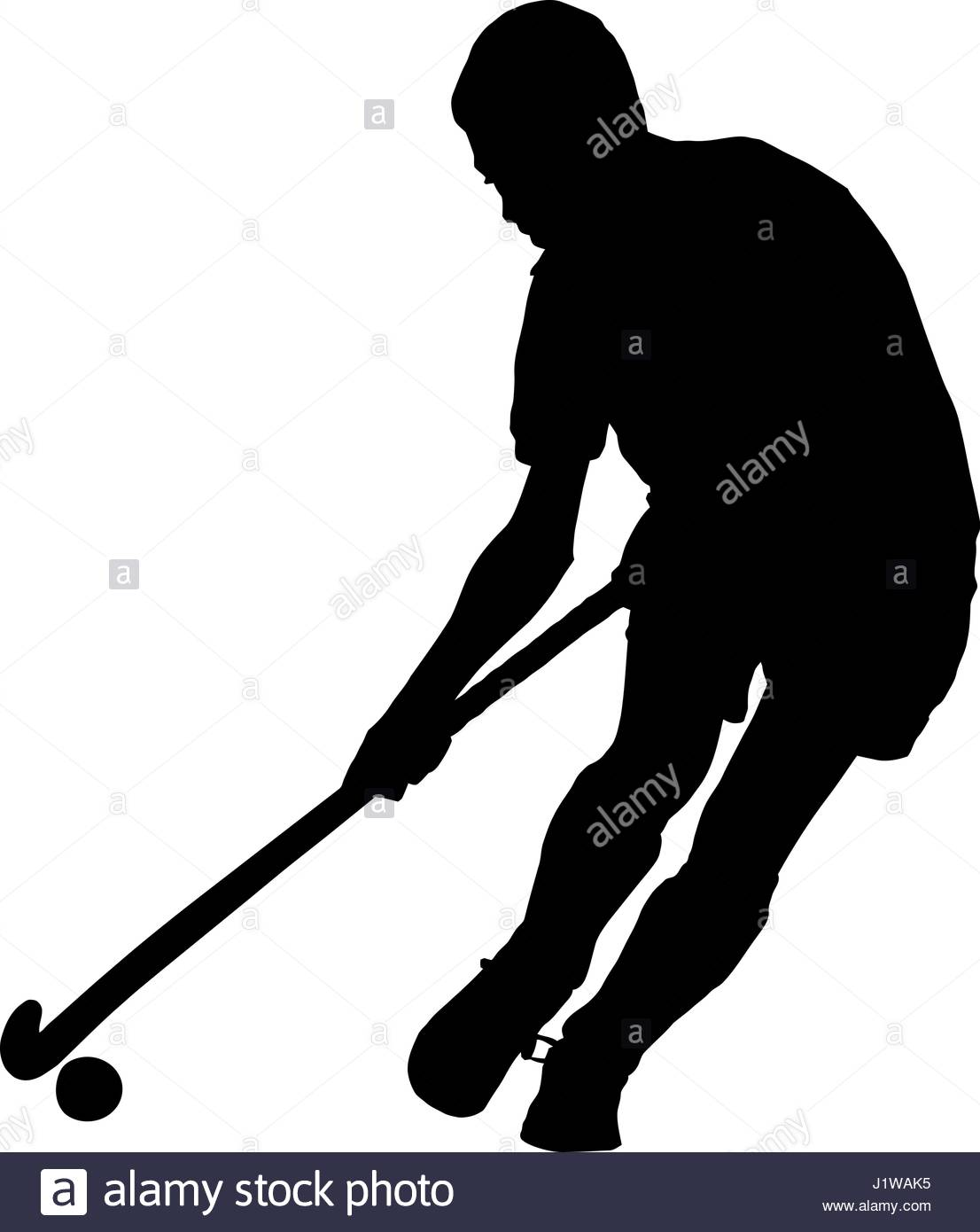 1106x1390 Black On White Silhouette Of School Boy Hockey Player Running