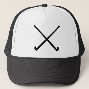 307x307 Crossed Hockey Sticks Hats Zazzle