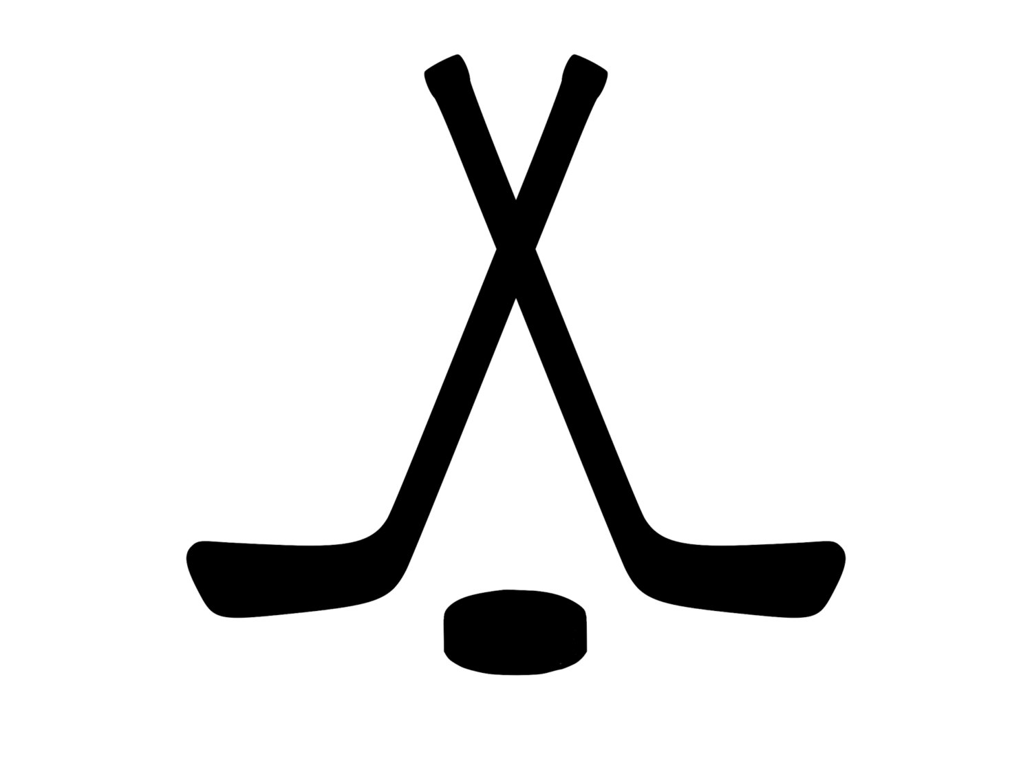 1500x1125 Crossed Hockey Sticks Amp Hockey Puck Decal Outdoor Vinyl Custom