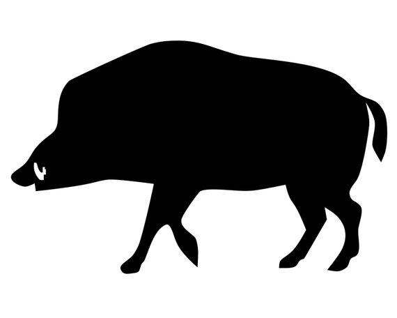 570x456 Wild Boar Hunter Decal Hog Hunting Sticker Hog Hunter