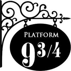 image regarding Platform 9 3 4 Sign Printable titled Hogwarts Silhouette Clipart at  No cost for