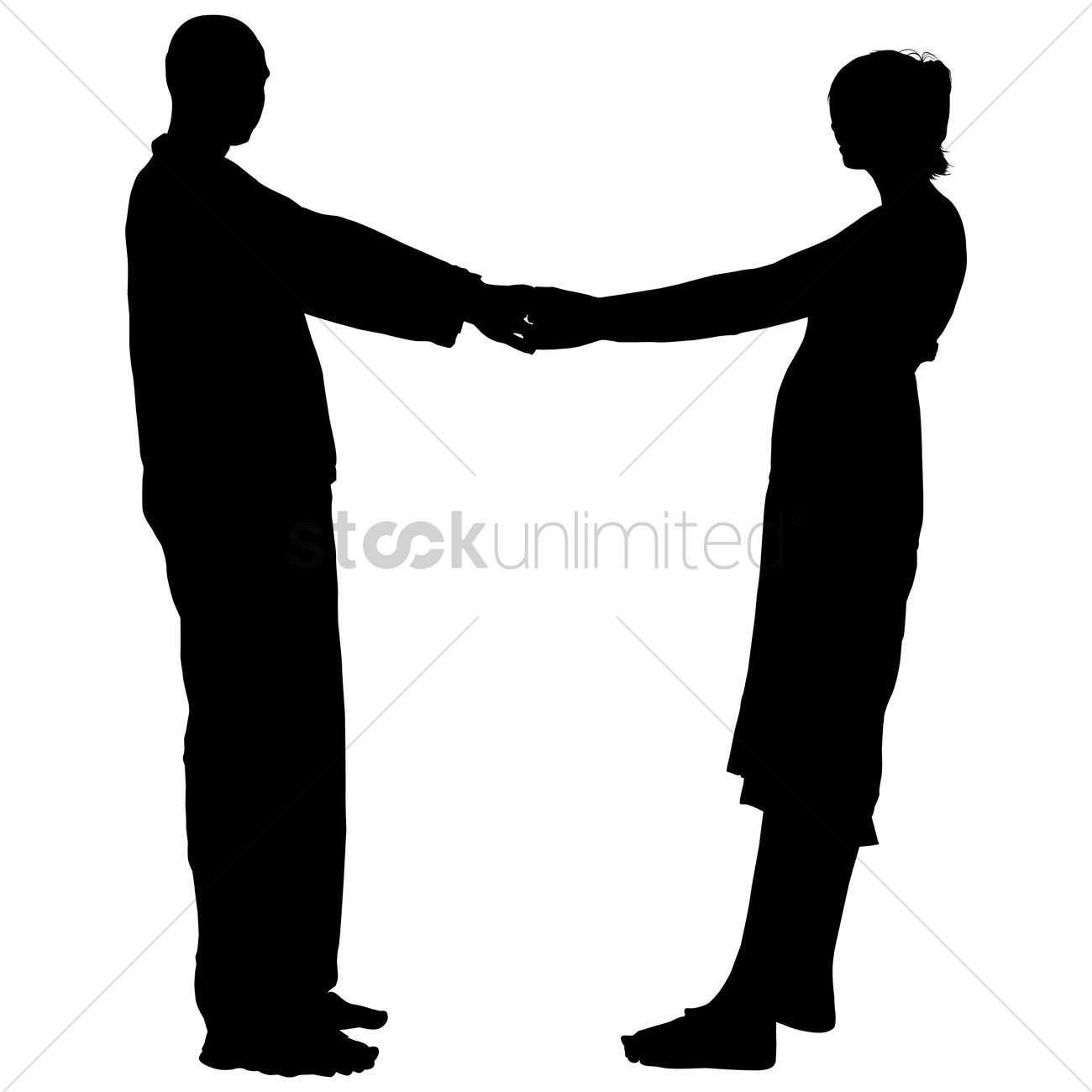 1300x1300 Silhouette Of A Couple Holding Hands Vector Image