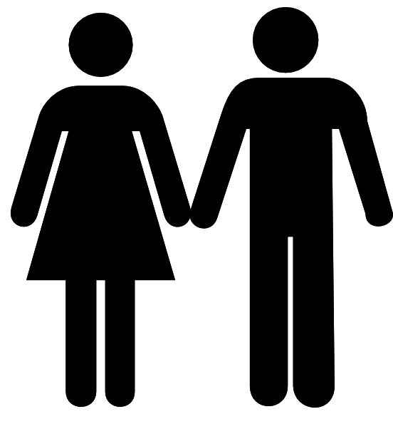 552x595 Holding Hands Outline