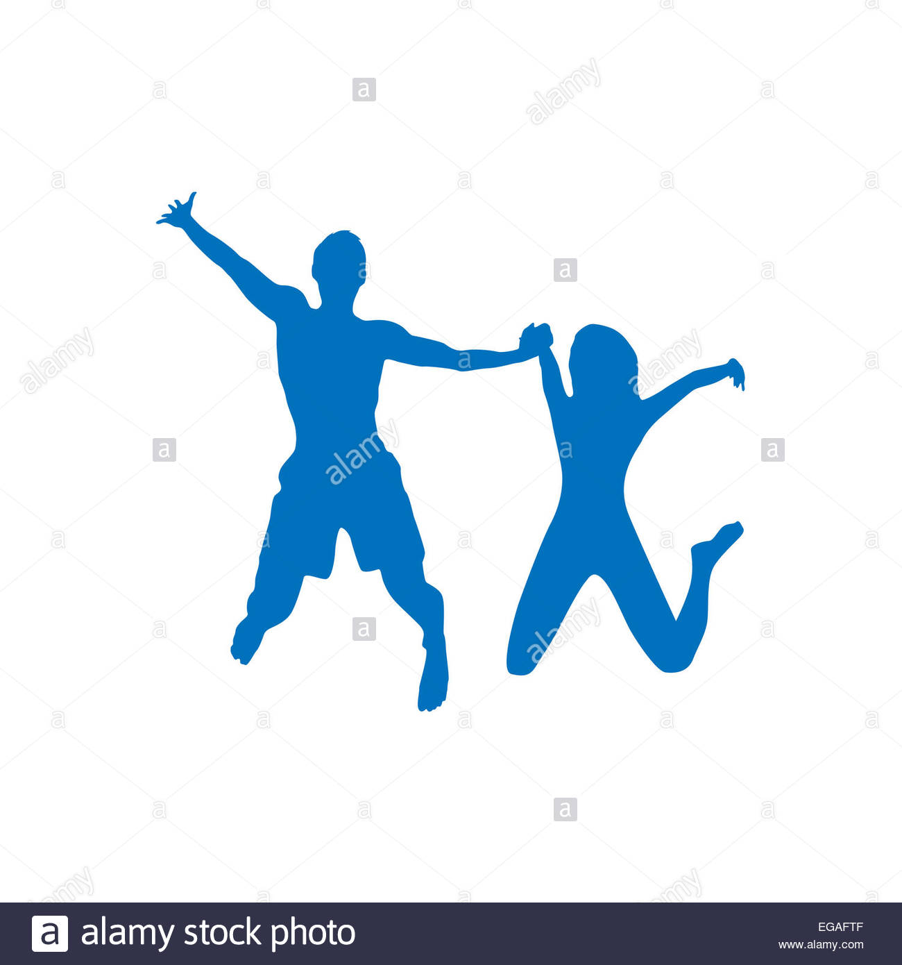 1300x1390 Couple Man And Woman Holding Hands Jump Silhouette Stock Photo